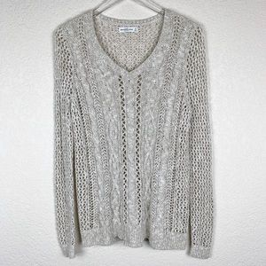 Abercrombie & Fitch Open Weave Beachy Baja Sweater